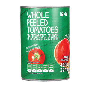PnP Whole Peeled Tomatoes 400g