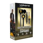 Volkano Alloy Series Metal Earphone Gold