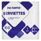 PnP No Name Serviettes White 100ea