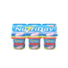 Danone Nutriday Smooth Strawberry Yoghurt 6x100g