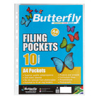 Butterfly Filing Pockets A4 10s