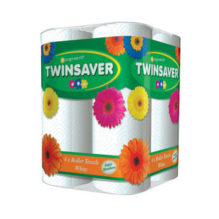 Twinsaver Roller Towel 2 Ply White 4s