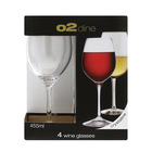 O2 Dine Wine Glass 455ml 4 Pack