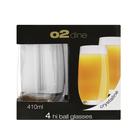O2 Dine Hi Ball Glass 410ml 4 Pack