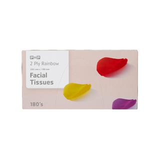 Pnp Facial Tissue Rainbow 180 Ea
