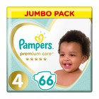 Pampers Premium Care Size 4 Jumbo Pack, 66 Nappies