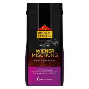 House of Coffees Wiener Mischung Medium Light Roast Ground Filter Coffee 250g