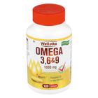 Wellvita Omega 3 6&9 1000mg S/gels 120ea