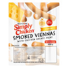 Rainbow Simply Chicken Cheese Viennas 500g