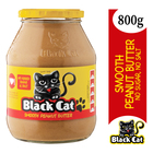 Black Cat Smooth Peanut Butter No Sugar & Salt 800g