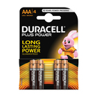 Duracell Batteries Plus Power AAA 4s
