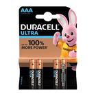 Duracell Alkaline Batteries Ultra Power AAA 4s