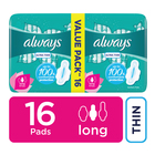 Always Ultra Sanitary Pads Long 14s