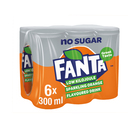 Fanta Orange Zero 300ml Can x 6
