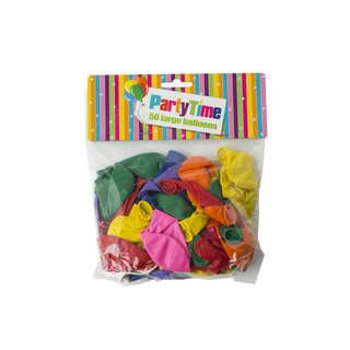 Party Time Large Round Balloons 50ea