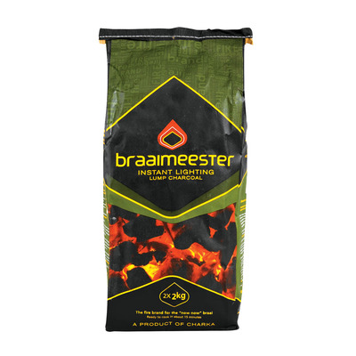Braaimeester Instant Light Charcoal 4kg Each Unit Of