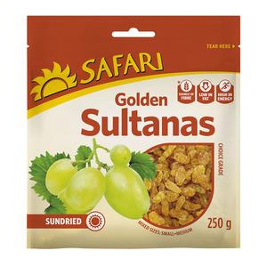 Safari Golden Sultanas Choice 250g