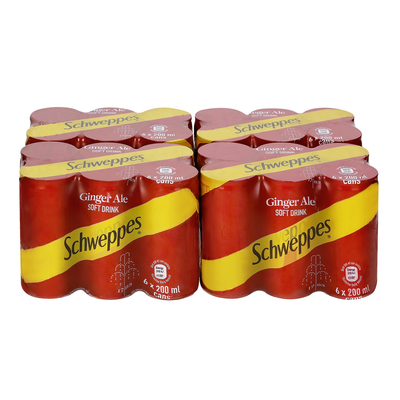 Schweppes Ginger Ale Can 200ml x 24 | Case | Unit of Measure