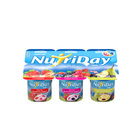 Danone Nutriday Low Fat Stewed Fruit & Custard Yoghurt 6 x 100g