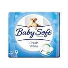 Baby Soft Toilet Paper 2 Ply White 9s x 10