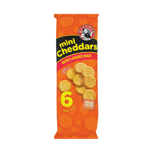 Bakers Mini Cheddars Bacon 198g