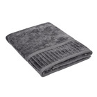 Colibri Velour Bath Sheet Charcoal