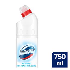 Domestos White & Shine Multipurpose Thick Bleach 750ml