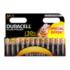 Duracell Alkaline Batteries Plus Power AA 12s