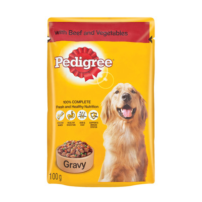 Pedigree Dog Food Beef Veg In Gravy 100g Each Unit Of Measure