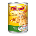 Purina Pamper Chicken Saucy Mince Tinned Cat Food 385g