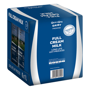 PnP UHT Full Cream Milk 1l x 6