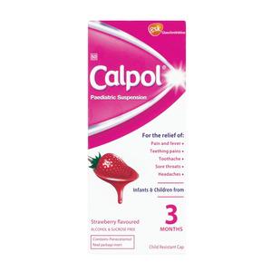 Calpol Paediatric Suspension Strawberry Flavour 100ml