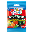 Mister Sweet Mini Bag Wine G um Sweets 60 GR