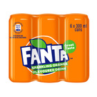 Fanta Orange 300ml Can x 6