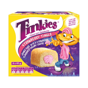 Tinkies Strawberry Tingle Flavoured Creamy Sponge Cake 6s