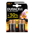 Duracell Alkaline Batteries Plus Power AA 4s