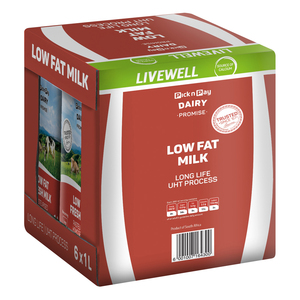 PnP UHT Low Fat Milk 1l x 6