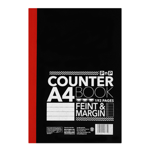 PnP A4 192 Page Counter Book  Fine Margin