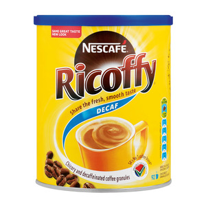 Nestle Ricoffy Decaffeinated Coffee 250g