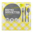 PnP 1ply Bistro Serviettes Yellow 50ea