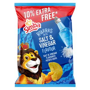 SIMBA CHIPS SALT&VINEGAR 132GR