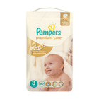 Pampers Premium  Nappies Care Size 3 Midi 4-9kg 60s