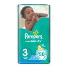 Pampers Active Baby Nappies Midi 58s