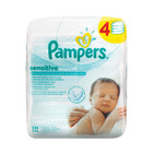 Pampers Baby Wipes Sensitive 4 x 56s