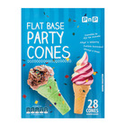 Pnp Party Pack Flat Bottom Cones 28ea