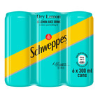 Schweppes Dry Lemon 300ml Can x 6