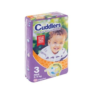 Cuddlers Comfort Baby Diapers Size3 52ea