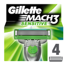 Gillette Mach 3 Sensitive Cartridges 4s