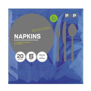 PnP 2ply Serviettes Blue 20ea