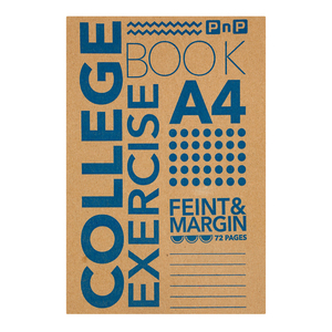 PnP A4 72 Page Feint And Margin Exercise Book
